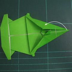 การพับกระดาษเป็นรูปแรด (Origami Rhino) 026