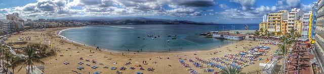 La Playa de Las Canteras en el día de Reyes de 2015 Las Palmas de Gran Canaria