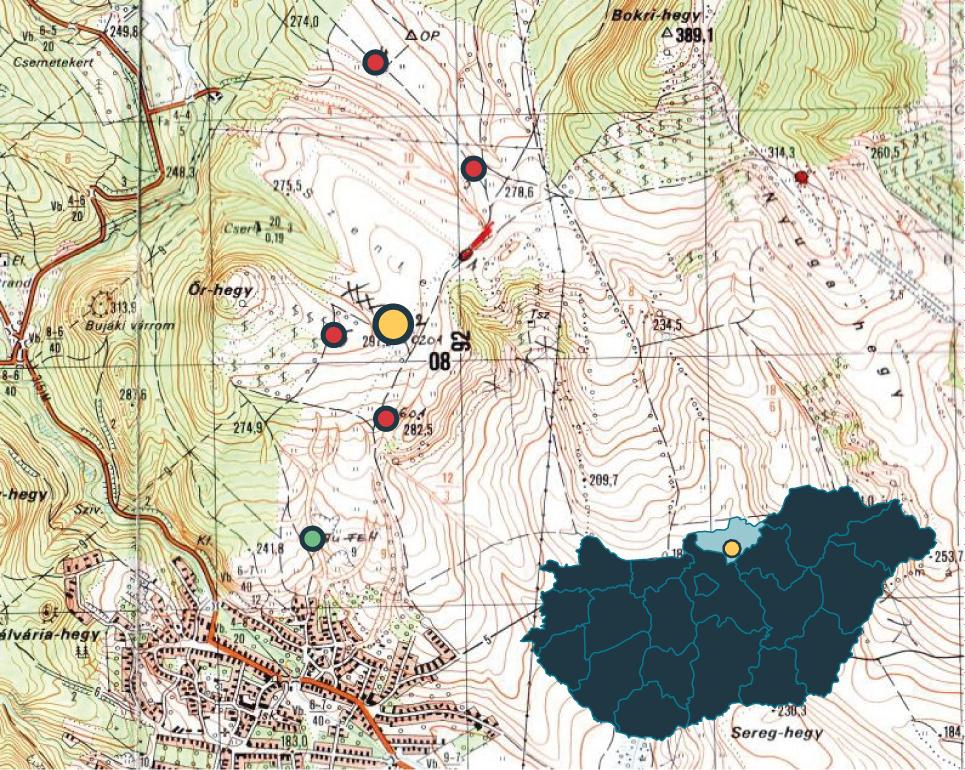Cserhát-hegység paleolitikum 1. ábra