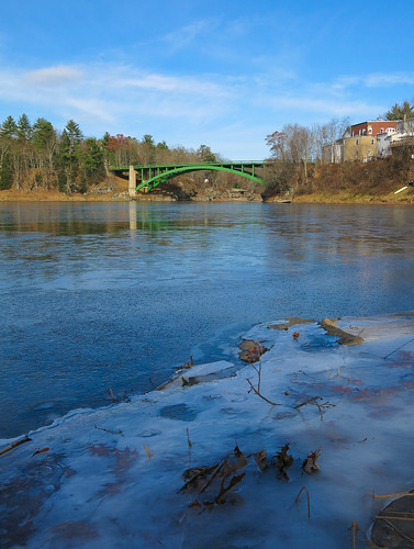bridge ice water reflections river landscape delawareriver canong15