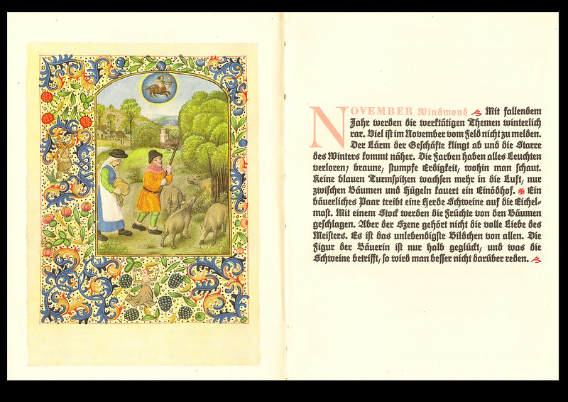 Monat November Windmond Stundenbuch Flämisch Bekränzter Jahrenslauf Kalender