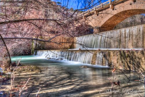 landscape waterfall stream greece nd hdr d800 2470 feneos waterreserve