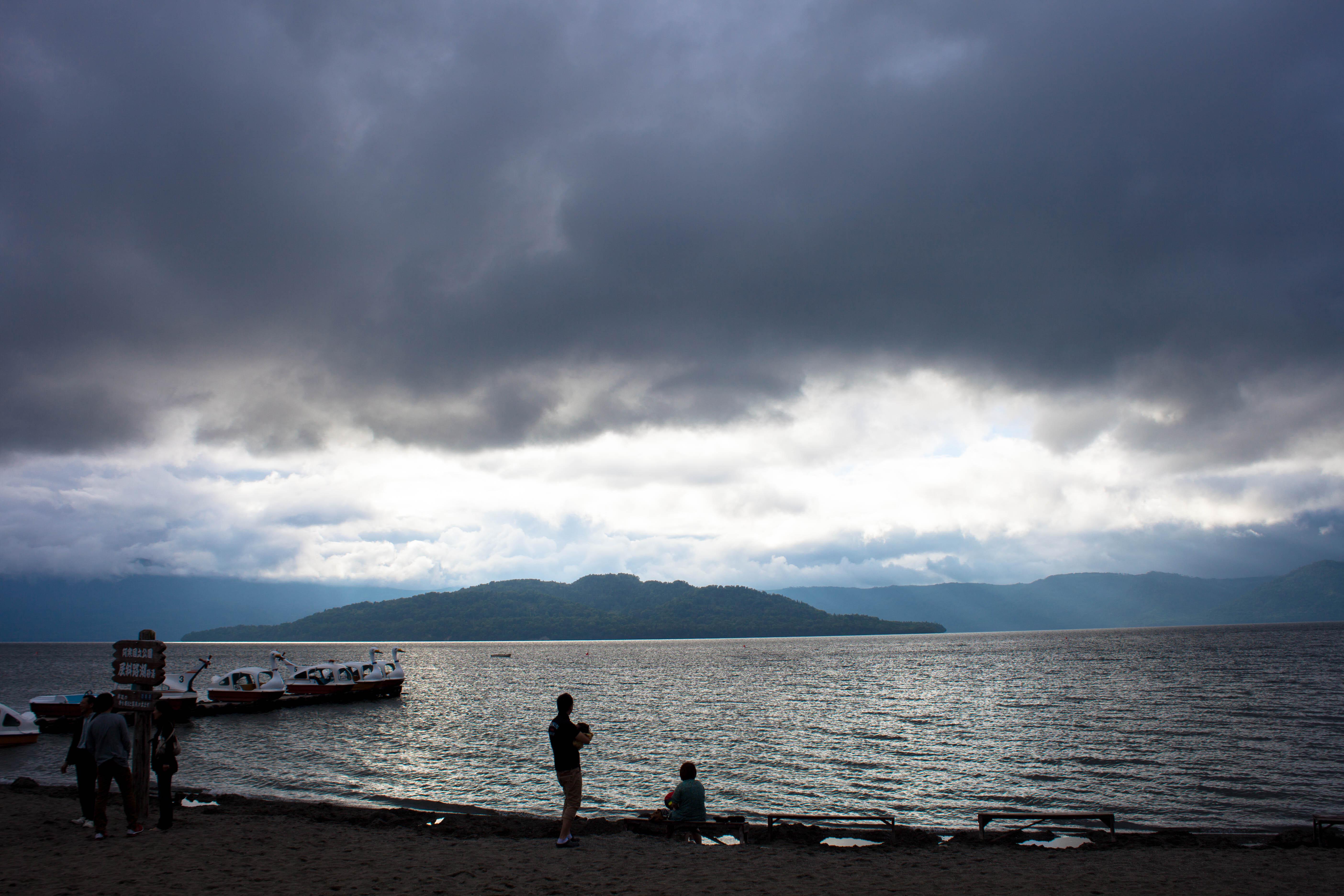 Neblige Küste Hokkaido