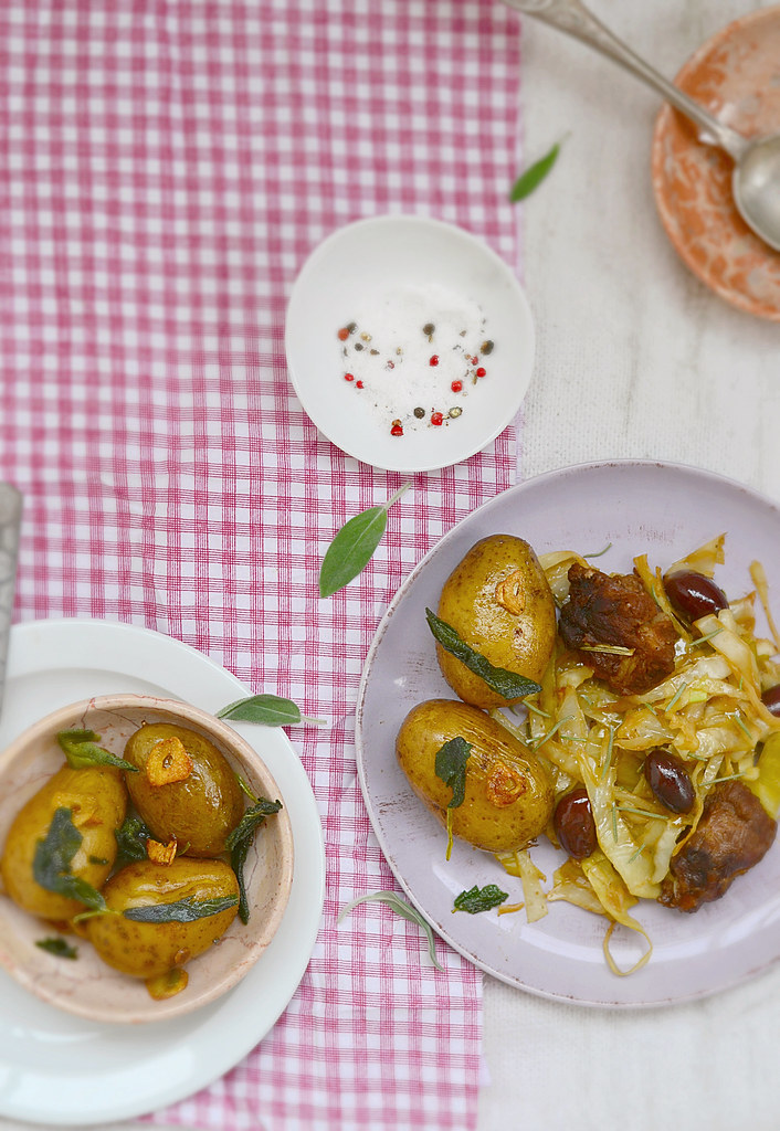 ragout from cabbage with pork.4