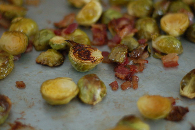 Maple Bacon Roasted Brussels Sprouts by Eve Fox, The Garden of Eating, copyright 2014