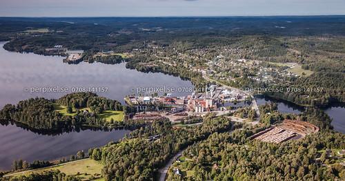3 sverige industri swe västragötaland flygfoto billingsfors ösan billingsholm