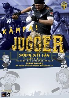 jugger affischmall för träning osv