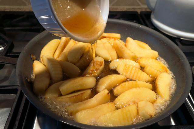 cider caramel, apples