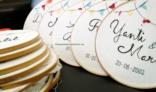 wedding hoop art