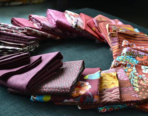 Marsala fabric pull