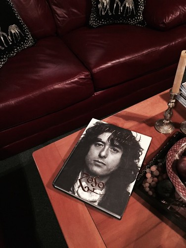 Jimmy Page book we bought in Paris