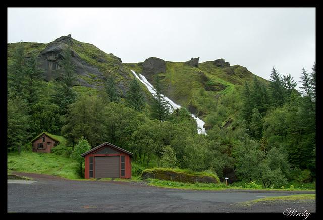 Islandia Vík Eldhraun Skaftafellsjökull Svartifoss Jökulsárlon - Las cascadas hermanas Systrafoss
