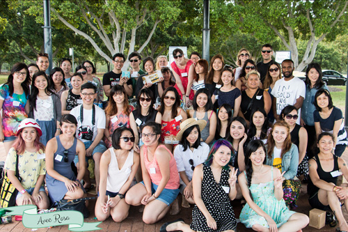 Sydney Food Bloggers Christmas Picnic 2014 group photo #sydfbxmas2014
