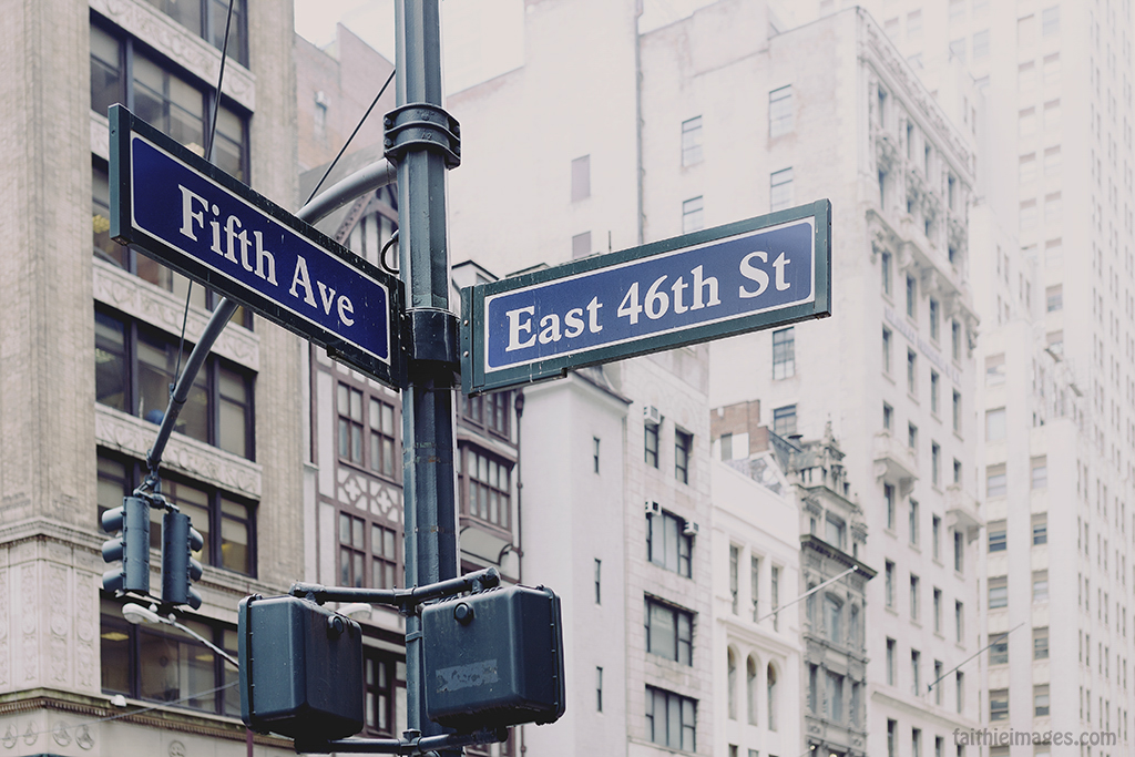 Fifth Avenue East 46th Street directions