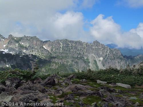 Ridges and peaks around Spray Park, Mt. Rainier National Park, Washington