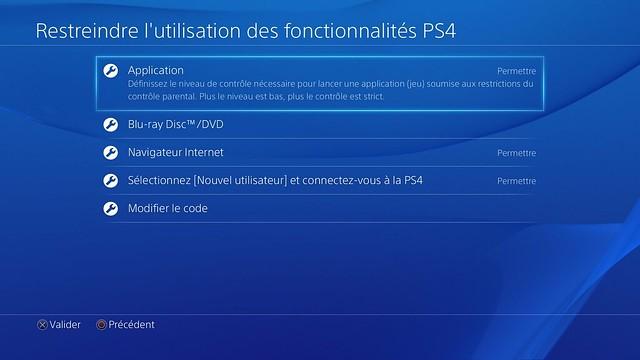 PS4 Controle parental