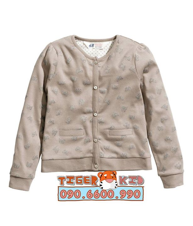 Áo khoác bé gái HM, size 1-8T, Cambodia