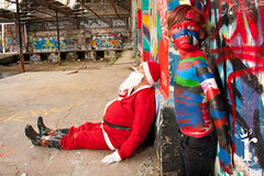 Santa Claus Bodypainting