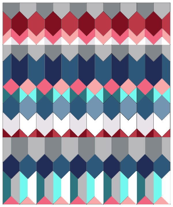 Cascade quilt wintry colors
