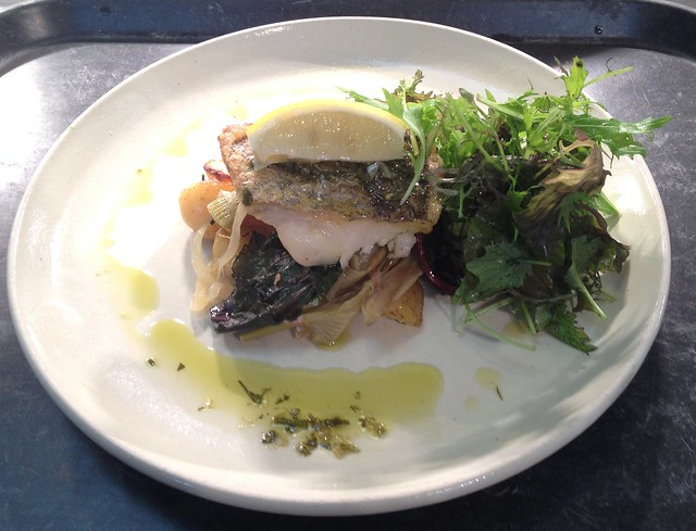 Hake with fennel
