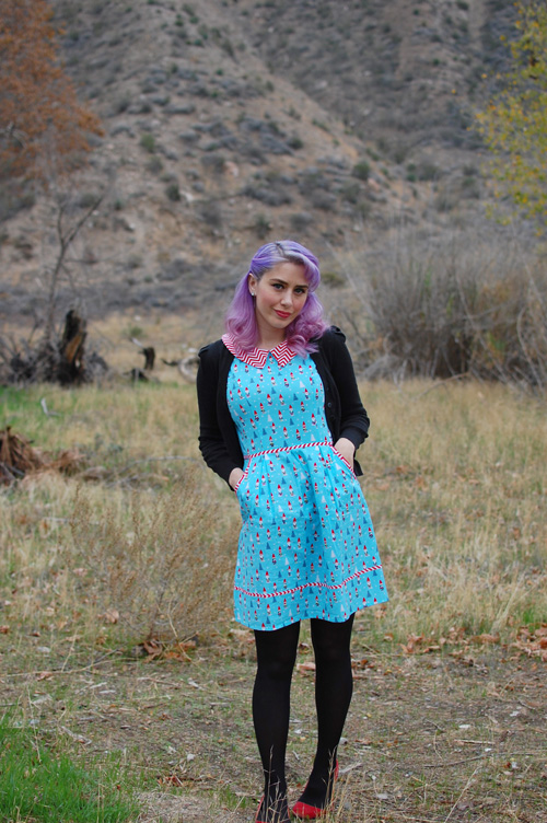 Retrolicious Modcloth All Eyes On Unique dress in Gnomes 001