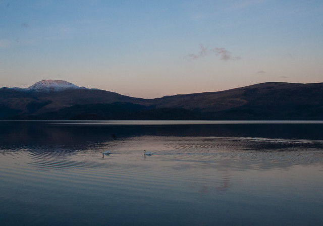 Loch Lomond, Luss, at sunset