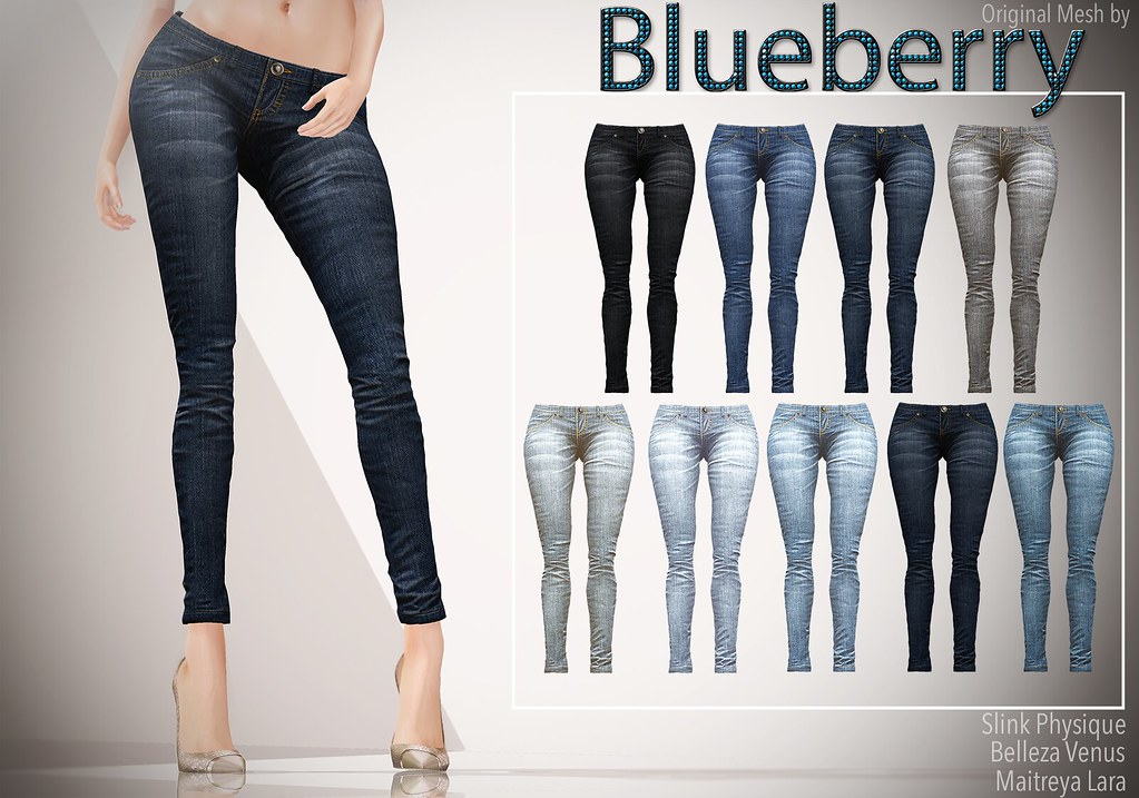 Blueberry - Xale - Jeans - Maitreya / Slink / Belleza Compatible.