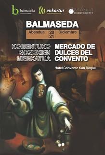 Cartel del Mercado de Dulces del Convento.
