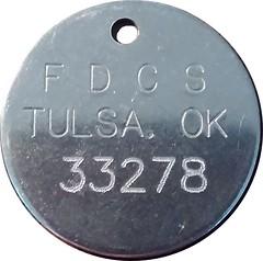 TulsaOK crematorium id tag