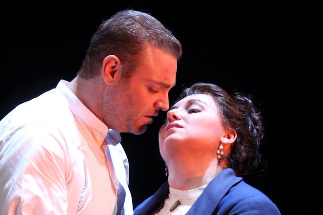 Joseph Calleja as Riccardo and Liudmyla Monastyrska as Amelia in Un ballo in maschera, The Royal Opera © ROH. Photograph by Catherine Ashmore, 2014