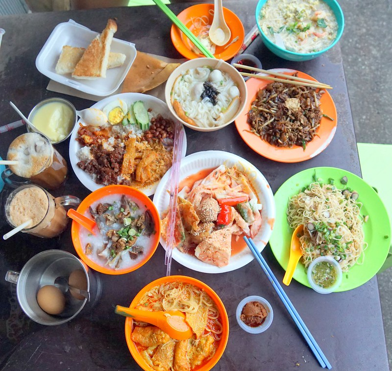 What to eat at Imbi Market  Curry Mee Egg Toast and Hainanese