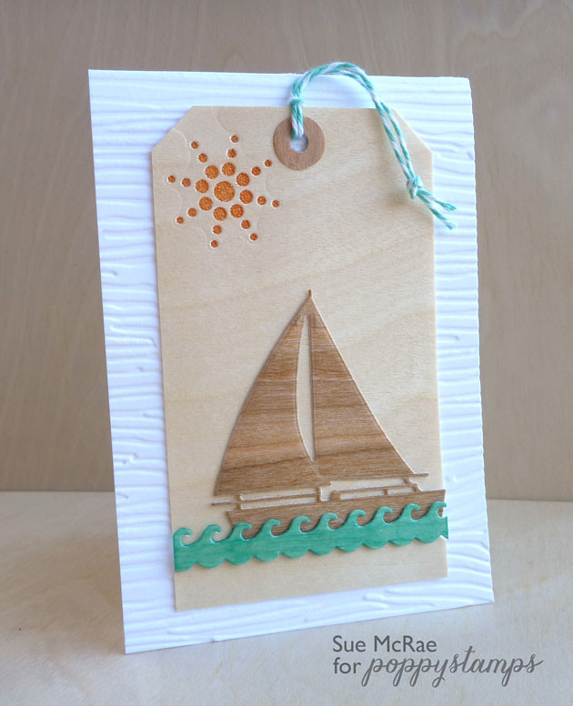 Wooden Sailboat Tag