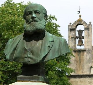 A bronze bust of Charles Gounod by Antonin Mercié (1913), St Rémy de Provence, France