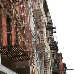 Fire escapes in #newyork #eastvillage