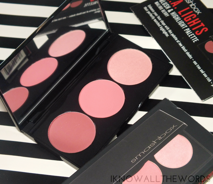 smashbox la lights blush & highlight palette malibu berry (5)
