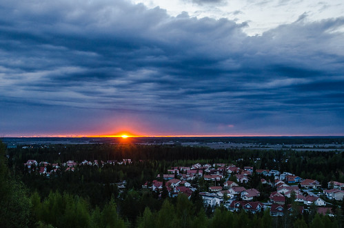 sunset sun last landscape evening spring sunny rays seinäjoki joupiska