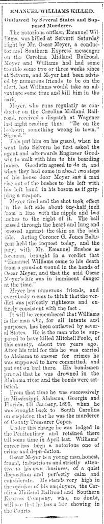 Murder at Sievern