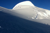 Gipfel Mera Peak, 6461 m, im Khumbu-/Everest-Gebiet. Foto: Archiv Härter.