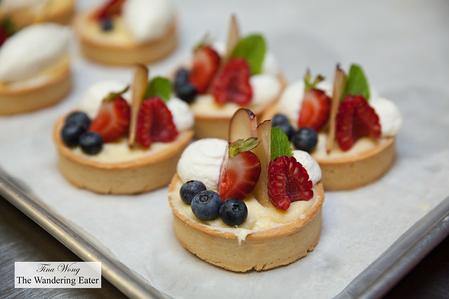 Lemon cream fruit tartlettes
