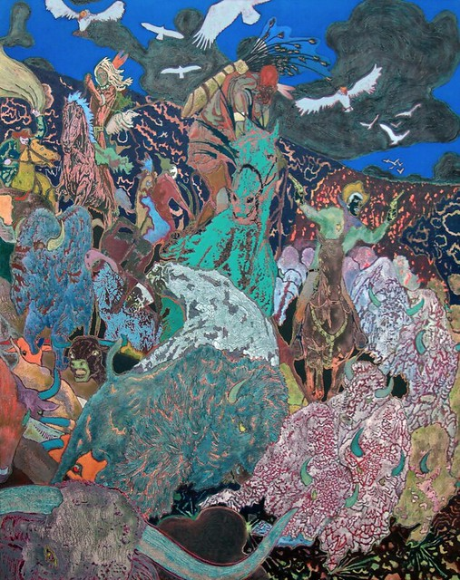 Aaron Morse, Stampede, 2009, acrylic and oil on vinyl canvas