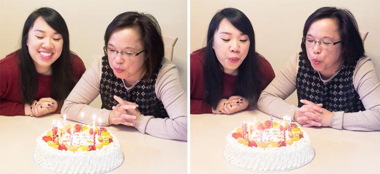 Winnie and Mom cake