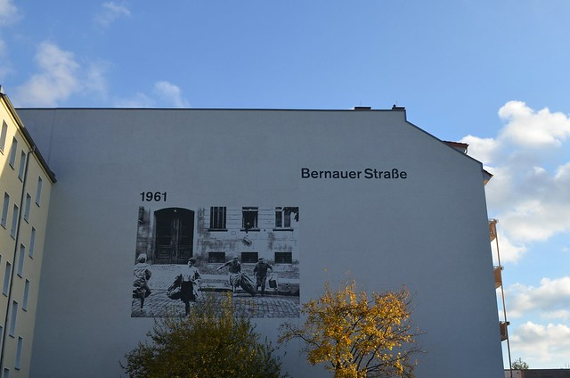 Berlin Fall of The Wall 25 Year Anniversary Lichtgrenze_ Bernauer Strasse 1961 photograph wall mural