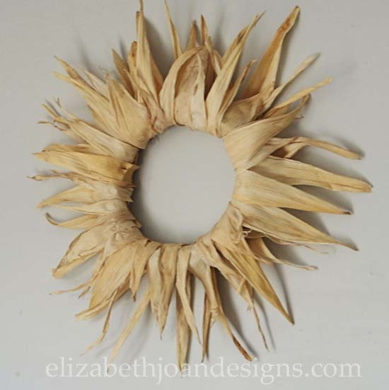 DIY Corn-husk wreath