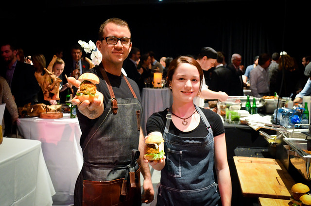 O&B Canteen - Chef Michael Hay & Laura serving up their falafel sliders