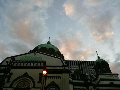 ニコライ堂と街灯