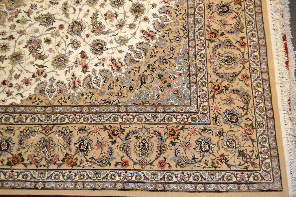 Pair Isfahan Esfahan Kaf Abrisham 7x10 persian Fine Area Rug (16)