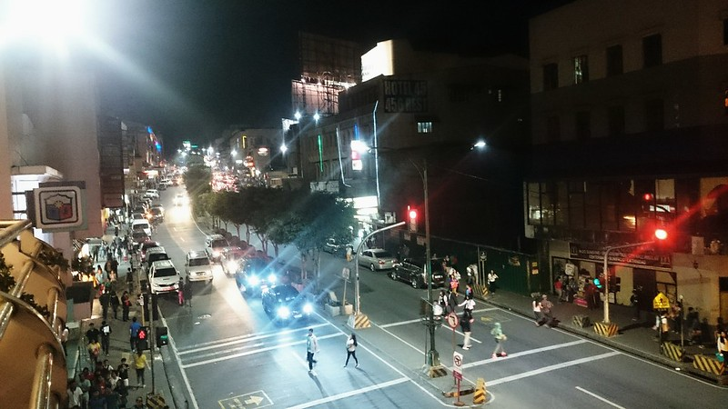 Session Road at night.