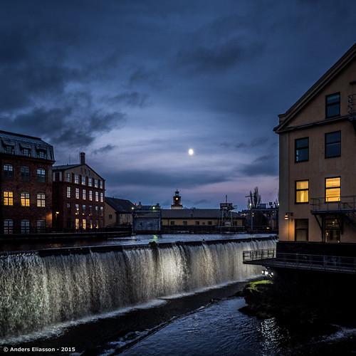 blue sky moon color water sverige norrköping östergötlandslän olympusomdem1 olympus1240mmf28mft