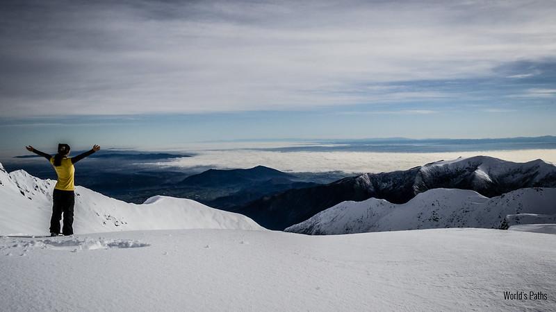 panorama sulla strada per il Monte Robinet