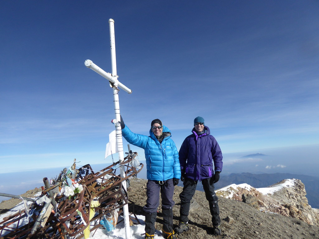 Successful summiteers on Pico de Orizaba